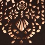 Лазерная резка ткани - орнамент