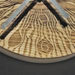 Часы настенные лазерная гравировка