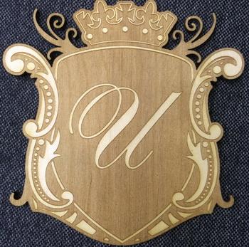 Герб из фанеры с гравировкой