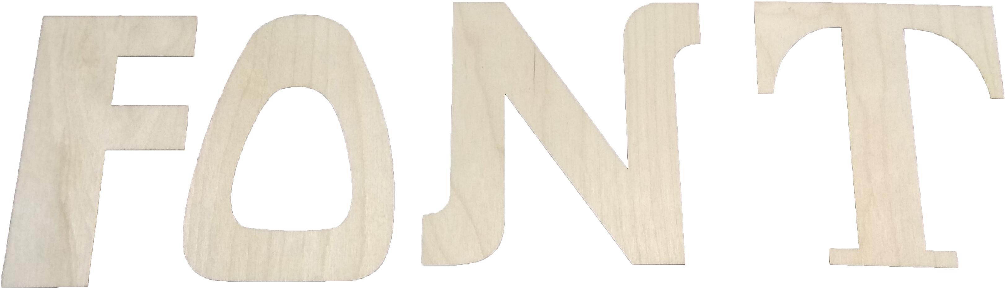 Лазерная резка букв