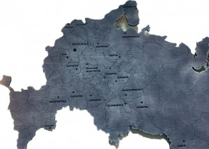 Карта России фанера