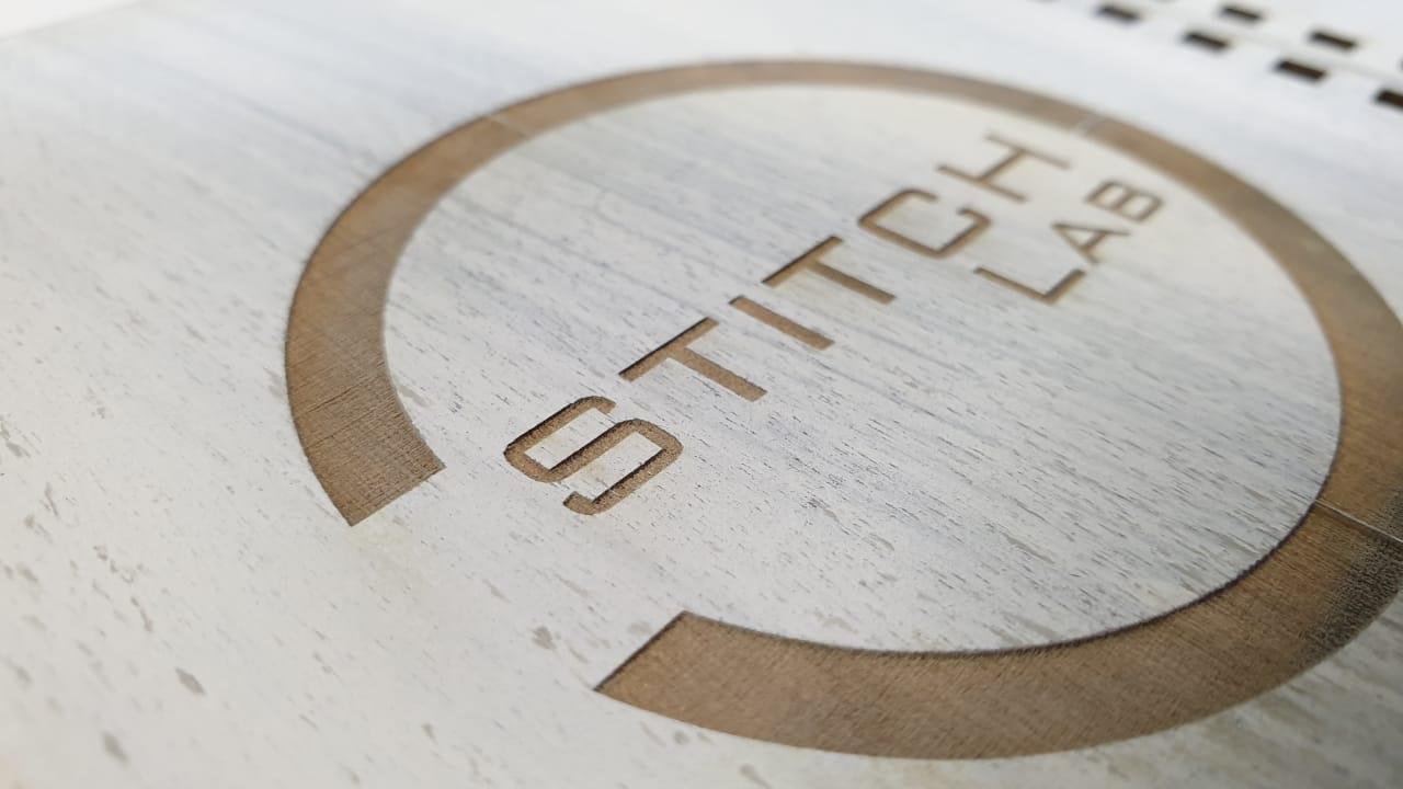 Блокнот с деревянной обложкой