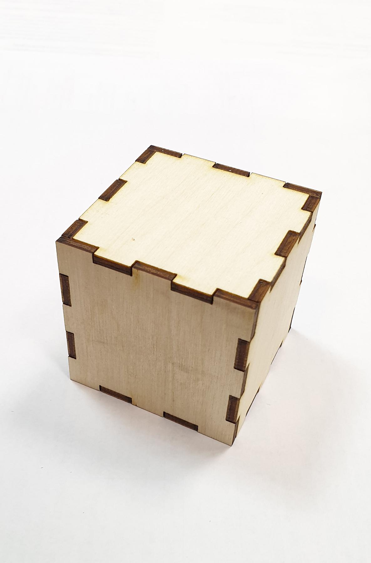 Заготовка кубика трансформера из фанеры