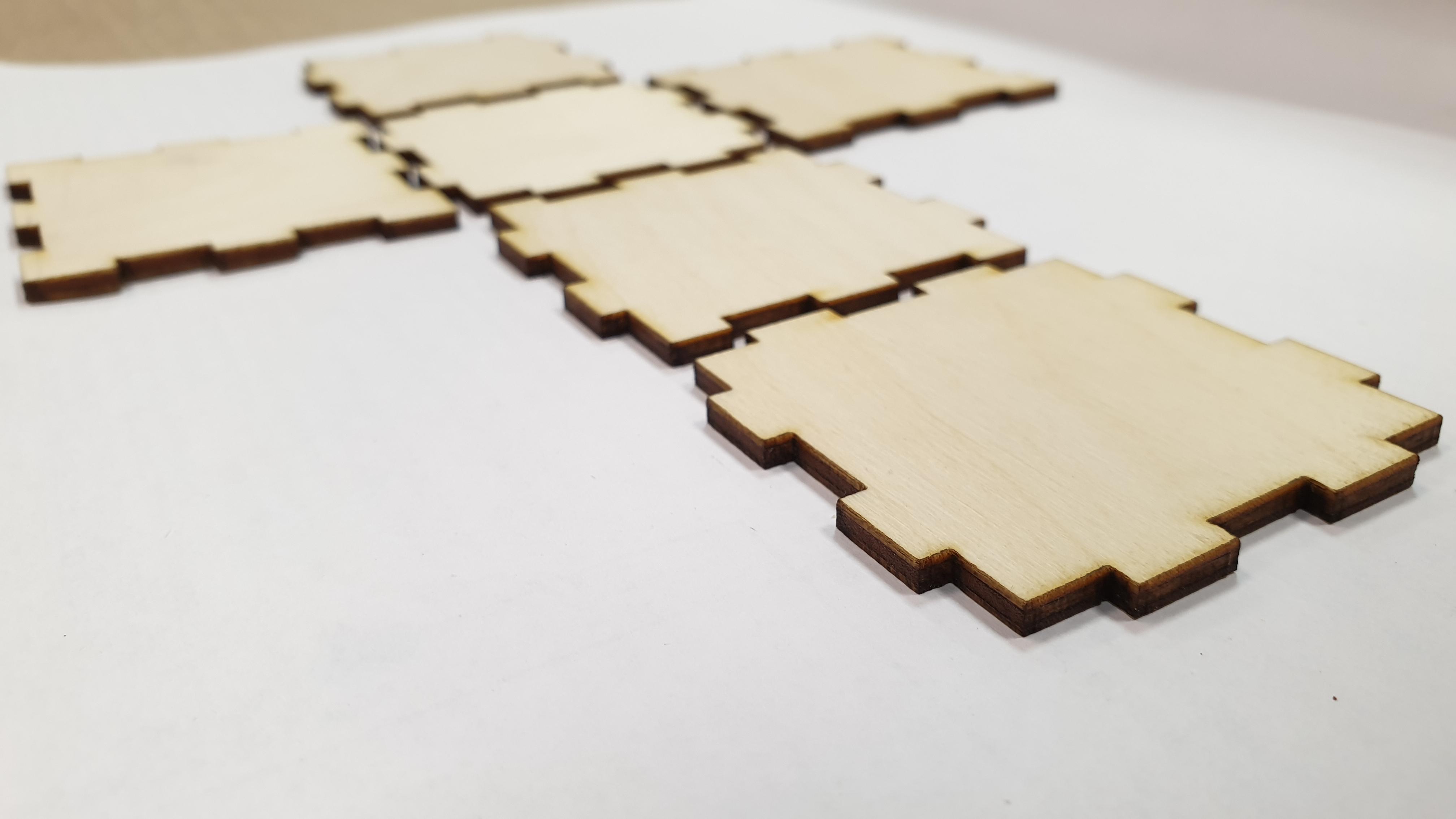 Заготовка фото кубика из фанеры