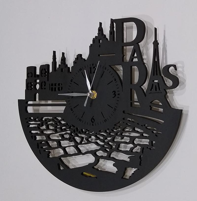 Настенные часы из дерева Париж