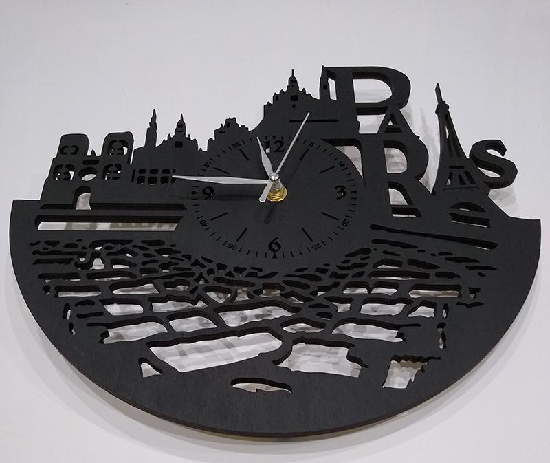 Париж настенные часы из дерева