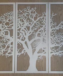 Панно Дерево из фанеры изготовление на заказ