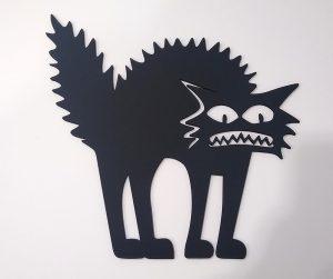 Настенное панно встревоженный Кот