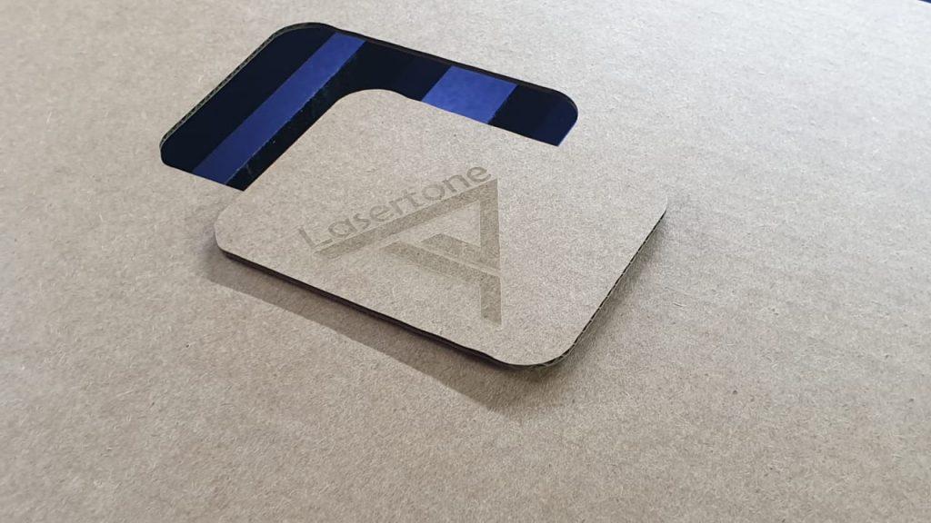 Лазерная гравировка на картоне