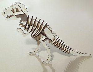Динозавр пазл из фанеры