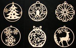 Елочные украшения из фанеры
